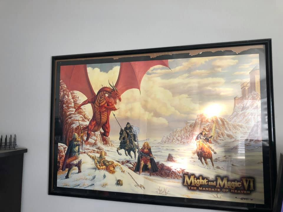 Might and Magic VI Poster, long thought lost